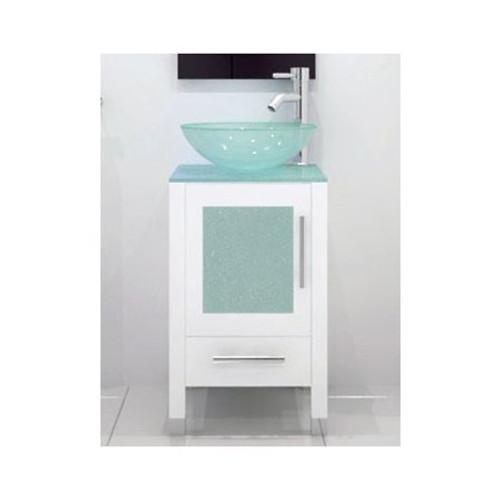 "Tottenham 18"" Bathroom Vanity White With Matching Mirror"