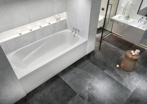 "Mirolin Phoenix 3 72"" x 34"" X 20"""" Skirted Left Hand Bath Tub"