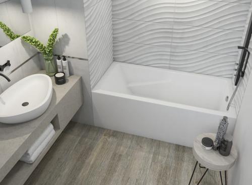 "Mirolin Alora Bath Tub Square Soaker Left Hand 60"" x 30"" x 20"""