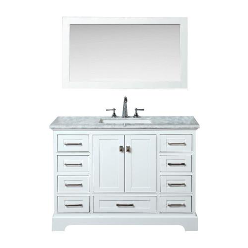 """Orlando 48"""" Bathroom Vanity White"""