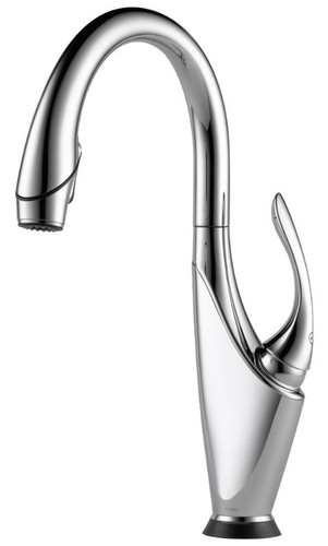 Brizo Vuelo SmartTouch Kitchen Faucet with Pulldown Spray Polished Chrome Finish