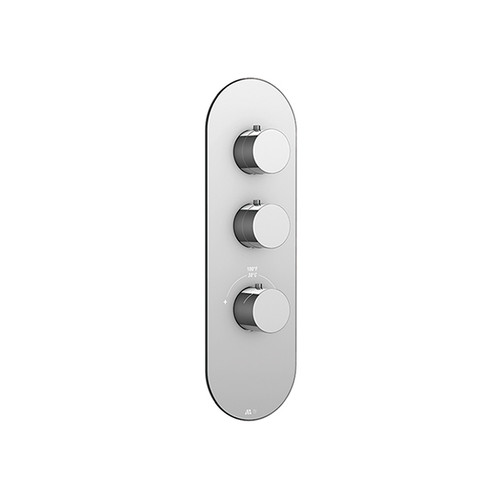 """Aquabrass Round trim set for #12002 1/2"""" and #3002 3/4"""" thermostatic valves Brushed Gold"""