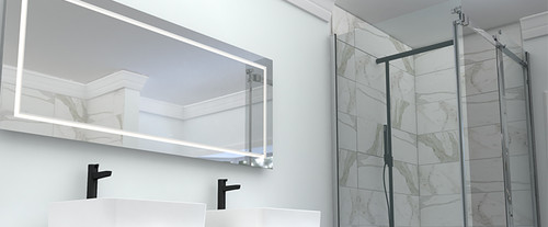 "Rubi Miro LED Mirror 60"" X 24"" D"