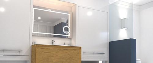 "RUBI MIRO LED MIRROR WITH MAGNIFYING ANTI FOG 36 x 24"""