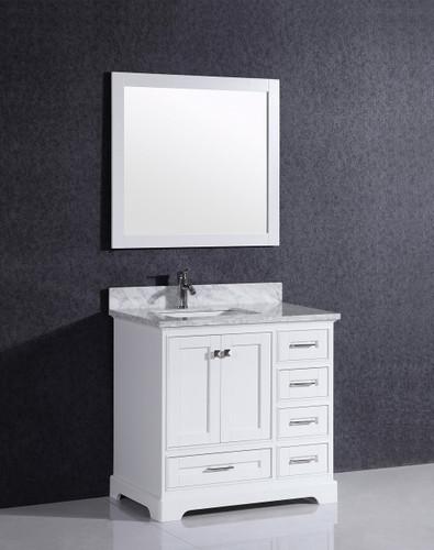 """Orlando 36""""  White Bathroom Vanity"""