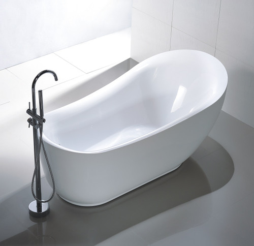 "Bayfield 71"" Free Standing Bath Tub With Freestanding Faucet Combo"