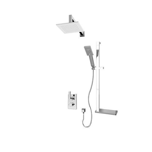 Rubi Kali 1/2'' thermostatic shower kit Chrome