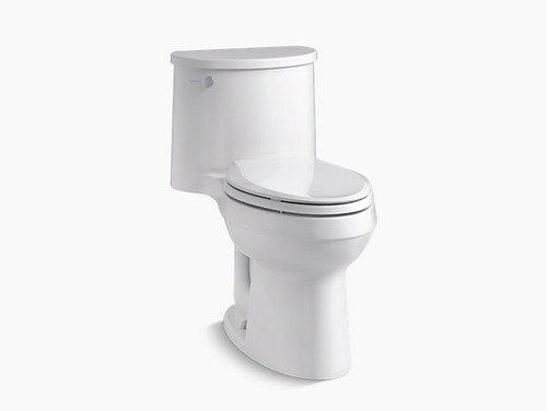 Kohler Adair® Comfort Height® one-piece elongated 1.28 gpf toilet with AquaPiston® flushing technology and left-hand trip lever