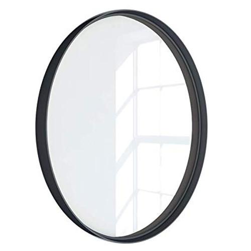 "Kende 24"" Round Metal Framed Mirror Gold - Diameter 24"""