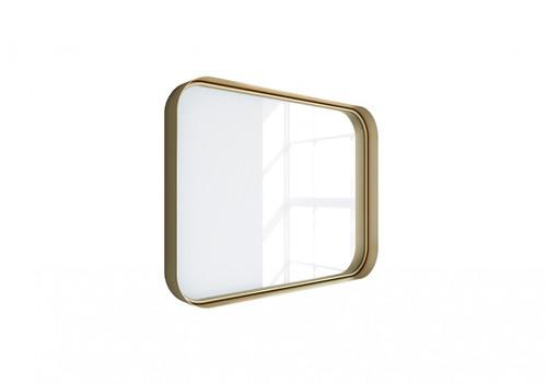 """Kende 32"""" x 24"""" Squared Metal Framed Mirror Vintage Gold"""