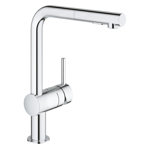 Grohe 30300000 Minta Single Handle Pull Out Kitchen Faucet Chrome