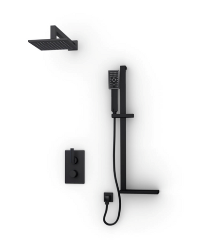 Rubi Kali 1/2'' thermostatic  2 ways shower system black