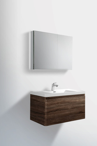 "Happy 31"" Wall Mount Bathroom Vanity"