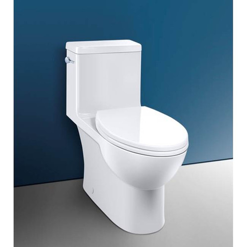 "Caroma Caravelle One Piece Comfort Height Toilet White 10"" 12"" Rough Dual Flush Side Lever"