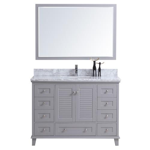 """Niagara 48"""" Bathroom Vanity Light Grey"""
