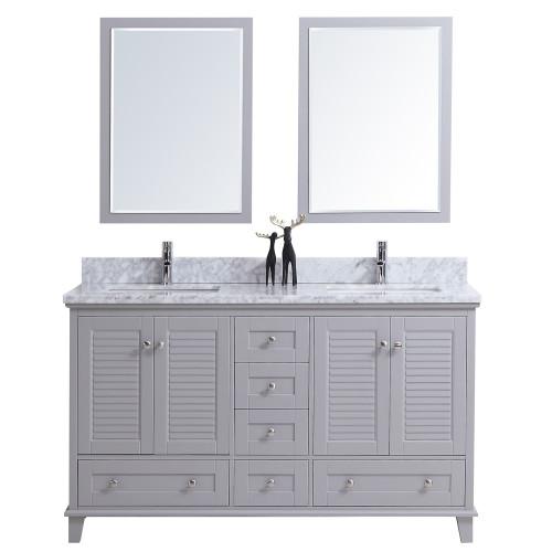 "Niagara 60"" Bathroom Vanity Double Sinks Grey"