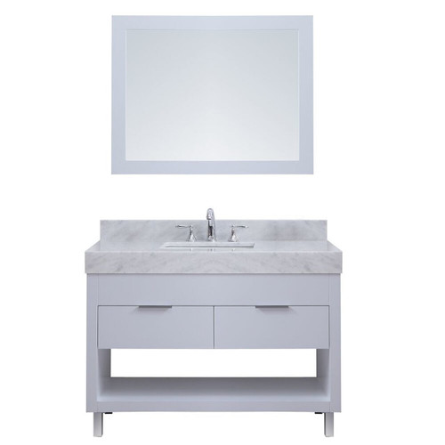 "SLS 40"" Bathroom Vanity White"