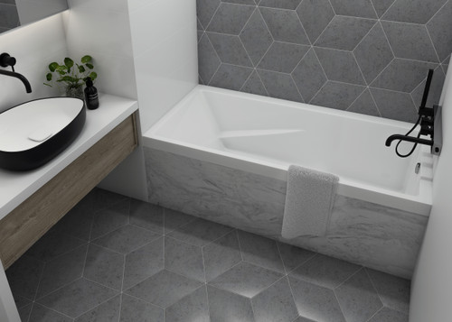 Mirolin Cetera Alcove Bathtub 60 x 32 x 20 Left Hand