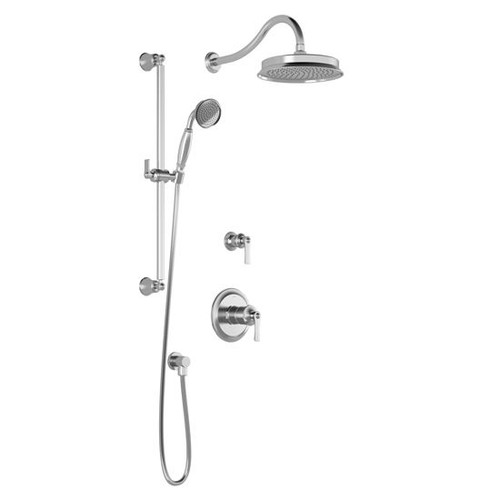 KALIA T2 Rustik Thermostatic Shower System Chrome