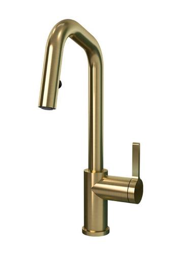 Rubi Endricks Single Lever Kitchen Faucet Brushed Gold