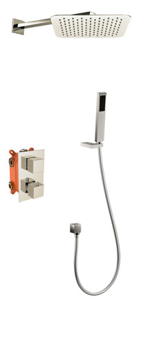 Royal Aurora Thermostatic Shower System Brushed Nickel