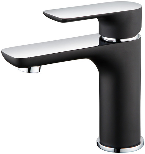 Royal Franklin Single Handle Faucet Black with Chrome Handle