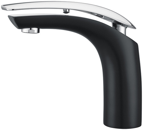 Royal Manchester Single Handle Faucet Black with Chrome Handle