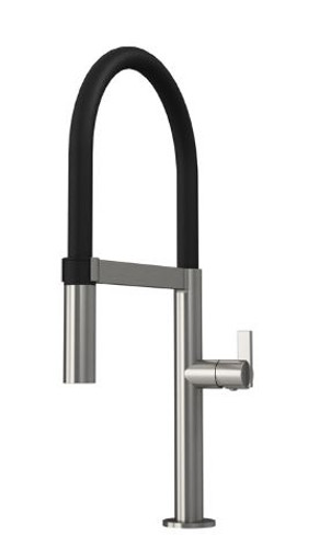 Rubi Nina Single Lever Professional Style Kitchen Faucet Stainless Steel