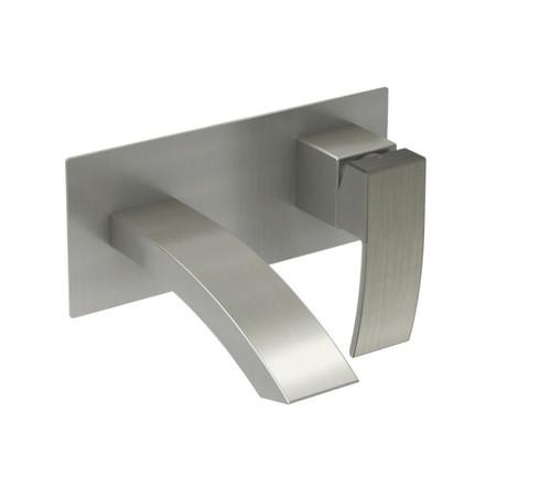 Rubi Fall Wall Mounted Washbasin Faucet Brushed Nickel