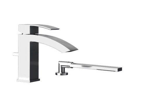 Rubi Fall Two Piece Bathtub Faucet Chrome
