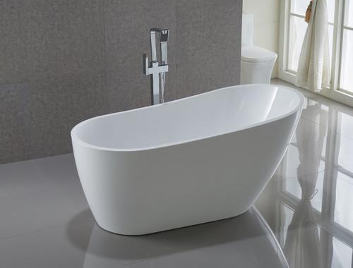 """Havana 59"""" Freestanding Bath Tub Matt White"""