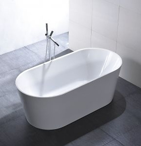 "Colorado 67"" Free Standing Bath Tub Matte White"