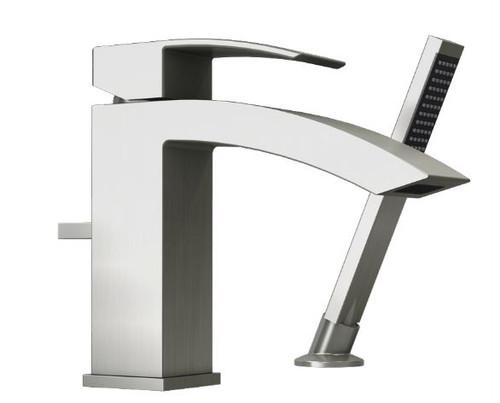 Rubi Fall Two Piece Bathtub Faucet Brushed Nickel