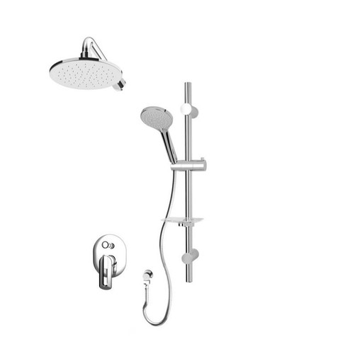 Rubi Myrto Pressure Balanced Shower Kit Chrome