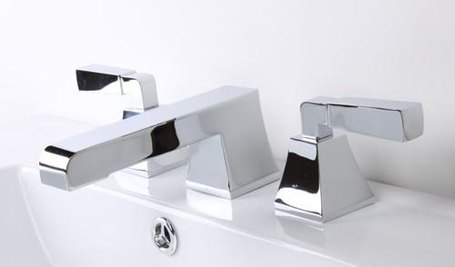 Cavalli Toro Widespread Lavatory Faucet with CROSS HANDLES Chrome Finish