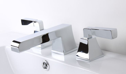 Cavalli Toro Widespread Lavatory Faucet with Lever Handles Chrome Finish