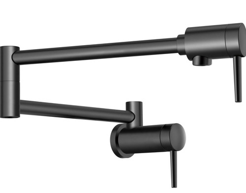 DELTA Contemporary Wall Mount Pot Filler Matte Black Finish