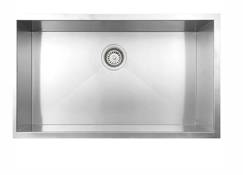 """VOGT Wolfsberg 18Z Undermount Kitchen Single Sink  32"""" x 18"""""""
