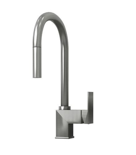 Rubi Pesto Single Lever Kitchen Faucet Stainless Steel Finish