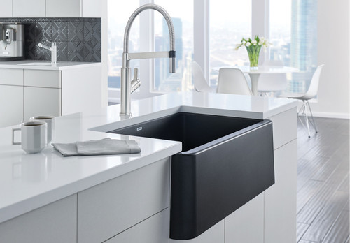 Blanco Ikon 33 Kitchen Sink With Apron Front Black