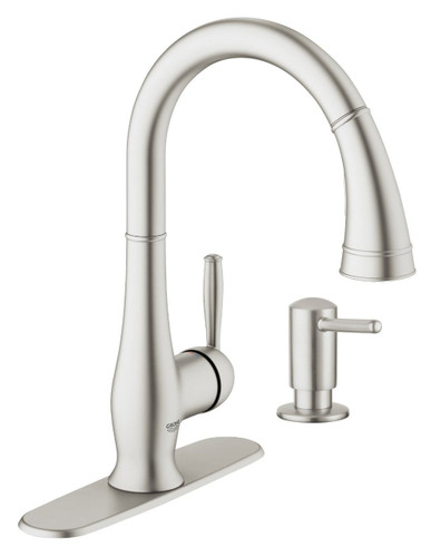 """Grohe Wexford Single-lever sink mixer 1/2"""" and soap dispenser combo"""