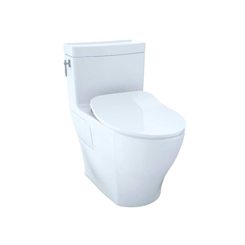 TOTO Aimes One-Piece Toilet, 1.28GPF, Elongated Bowl - WASHLET+ Connection - Slim Seat