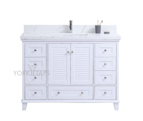 """Niagara 48"""" Bathroom Vanity White"""