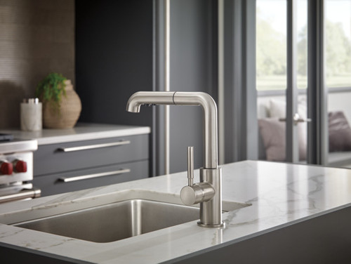 Brizo Solna Single Handle Pull Out Kitchen Faucet York Taps