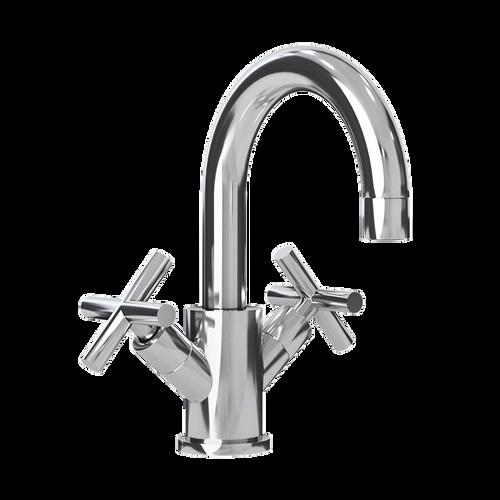 Rubi Alex Washbasin Faucet with Cross Handles No Drain Chrome