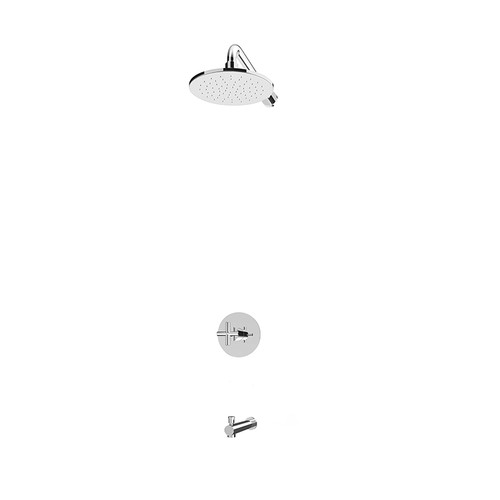 Rubi Alex Pressure Balanced Shower Kit with Vertical Shower Arm Chrome