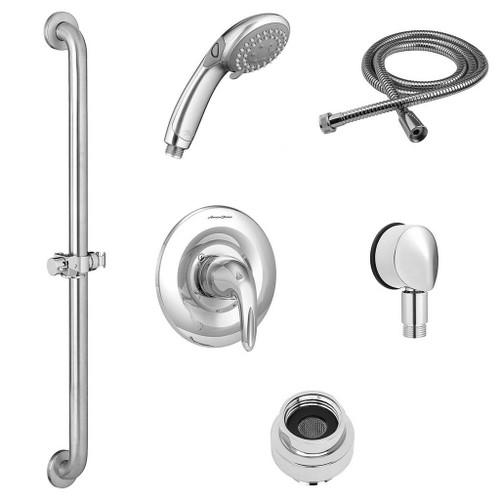 American Standard Commercial Shower System Kit - 2.5 GPM with Slide-Grab Bar and Hand Shower