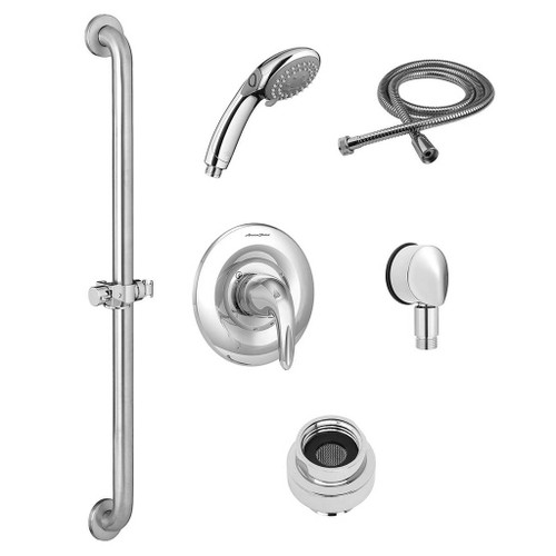 American Standard Commercial Shower System Kit for Flash Rough Valve - 1.5 GPM with Hand Shower