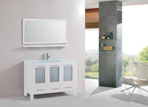 """Victoria 48"""" Bathroom Vanity White"""