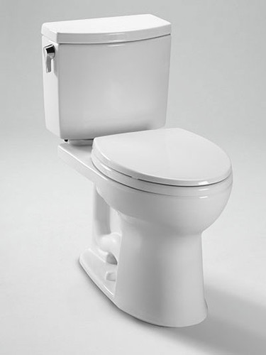 Toto Drake II 1G Two-Piece Toilet, 1.0 GPF, Elongated Bowl
